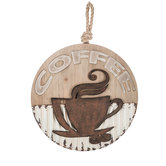 Round Coffee Wood Wall Decor